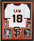 FRAMED MATT CAIN AUTOGRAPHED SIGNED SAN FRANCISCO GIANTS JERSEY MLB HOLO