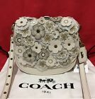 NEW Coach 1941 Glovetanned Leather Tea Rose Chalk Applique Saddle 17 bag 550