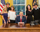 President Trump In Oval Office Ted Nugent Sarah Palin  Kid Rock 85x11 Photo