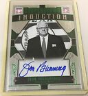 2015 Panini Cooperstown Jim Bunning HOF Induction Green Signatures Auto # 10 RIP