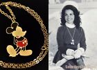 1973 Mickey Mouse pendant w chain Disneyland Walt Disney Prod Annette Funicello
