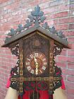 antique train style cuckoo clock from the late 1800s
