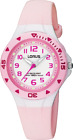 Lorus RRX49CX-9 Youth Sport Watch Pink/White Silicone WR 10ATM 30mm RRP$65