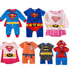 Toddler Baby Superhero Superman Batman Casual Romper Pajamas Babygrows