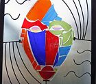 Meko Designs Fused Glass  Metal Mask Fine Art Huge Sculpture New
