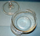 Vintage Fire King Tiny Casserole With Lid Clear Glass 8 oz #402 Lid