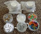 6 Stampin Up Embellishment Lot Buttons Brads Eyelets Clips Flowers