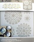 Reusable Painting Stencil Floral Craft Template DIY Wall Fabric Plate Art 8x9