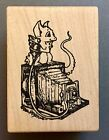Visual Image Printery Baby Dragon on Vintage Camera Rubber Stamp