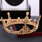 Gold Vintage Wedding Bridal Headband Queen Crown Tiara Crystal Hair Accessories