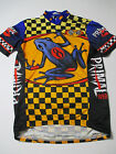 Vintage Primal Wear Cycling Jersey 1996 Sz Small Frog Toad Bold Cycling Jersey
