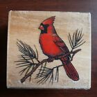 Rubber Stamp Cardinal Flying Wings Rubber Stampede A2341E Red Bird Animal