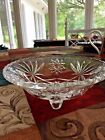 VINTAGE ANCHOR HOCKING EAPG 3 FOOTED STAR OF DAVID CANDY DISH/BOWL