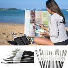 Pro Paint Brush Set Nylon Brushes For Oil Watercolor Acrylic Painting Artist