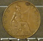 1908 Great Britain Large Penny  Coin     F35