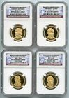 2011 S Presidential Dollar 4 Coin Proof Set NGC PF70 Ultra Cameo UC PR70 1