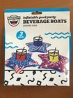 NEW Big Mouth Inflatable Pool Party Beverage Boat Patriotic Stars 3 Pk Summer