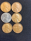 Value - 6 Nice Lincoln Wheat Cents: 1940,1941,1943,1944,1946,1947