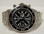 $6K BREITLING SUPEROCEAN 44mm CHRONOGRAPH A13341 WATCH LEATHER TRAVEL BOX