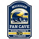 NCAA Michigan Wolverines Fan Cave Wood Sign