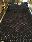 Nipon Boutique Black With White Eyelet Lining Two Piece Size 6 611WS