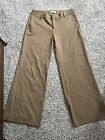 womens vintage Gap wide leg trousers beige brown size 8 ankle