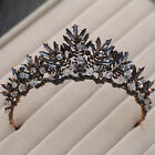 Black Vintage Wedding Bridal Crystal Crown Headbands Tiara Hair Accessories Gift