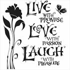 6 x 6 Crafters Workshop Painting Stencil Template LIVE LOVE
