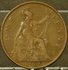1930 Great Britain Large Penny  Coin     F145