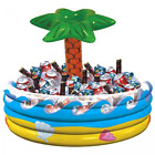 Inflatable Palm Tree Cooler With Ice Luau Tropical Beach Pool Hawaiian Party