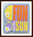Fun in the Sun Title Premade Paper Piecing Embellishment 4 Pages SC4S