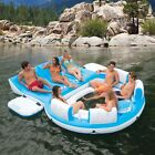 Big Inflatable Raft for Lake 7 Person Party Boat Lounger Cooler Water Tubes Pool
