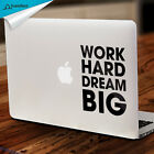 Work Hard Inspirational Decal Inpiration Quote Mac Decal Macboko Decal Sticker
