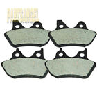 [Front + Rear] High Performance Carbon Brake Pads For Harley Davidson 2 sets