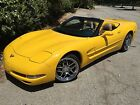 2001 Chevrolet Corvette CONVERTIBLE 6 SPEED YELLOW YELLOW 6 SPEED MANUAL CONVERTIBLE SOUTHERN CALIFORNIA FLASHY TOPLESS LADY