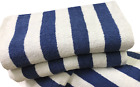 6 pack new large beach resort pool towels in cabana stripe jumbo blue 30x70