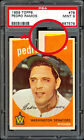 1959 Topps #78 Pedro Ramos Variation (missing color near corner) PSA 9 MINT RARE