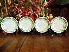 4 NEW OTHER(old stock) GIBSON EVERYDAY CHRISTMAS CHARM HOLLY SAUCERS 6 1/4