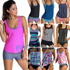 Women Tankini Set Push up Swimsuit Bathing Suit Swimwear Beach Wear Plus Size US