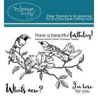 Magnolia Branch Birds Clear Unmounted Rubber Stamp Set TECHNIQUE TUESDAY New