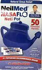 NeilMed NASAFLO Neti Pot Sinus Rinse with 50 premixed packets Exp 04 19