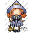 Halloween Witch Cling Unmounted Rubber Stamp Set La La Land Crafts 5313 New