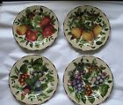 4 Sakura Oneida Sonoma Excell Salad Dessert Plates Grapes Apples Pears 8.25 in