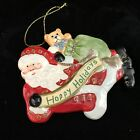 Fitz and Floyd 2004 Happy Holidays Santa Claus Christmas Tree Ornament 5' x 4'