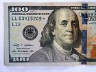 2009-A $100 STAR NOTE S/N LL 03415209 * Circulated  Replacement U.S. Note.