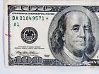 OLD- 1999  $100 STAR NOTE S/N BA 01849571 * Circulated  Replacement U.S. Note.