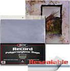 100 BCW Record Sleeves Resealable Plastic Bag Outer 33RPM LP Covers Album 12