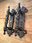 2 Cast Iron Barn Handle Pull Drawer Door Cabinet Rustic antique style Shed Gate