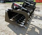 MTL Attachments HD 72 Skid Steer Rock Grapple Bucket Twin Cylinder 149 ship