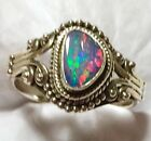 Gorgeous Natural Australian Opal Ring 925 Sterling Silver Size 7 🌹